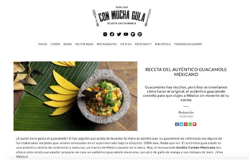 ¿El auténtico guacamole mexicano? En la revista CON MUCHA GULA saben bien lo que dicen.