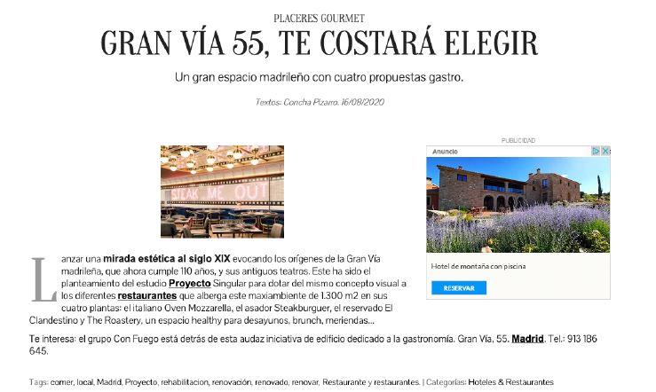 Revista MiCasa habla de la nueva novedad: Gran Vía 55