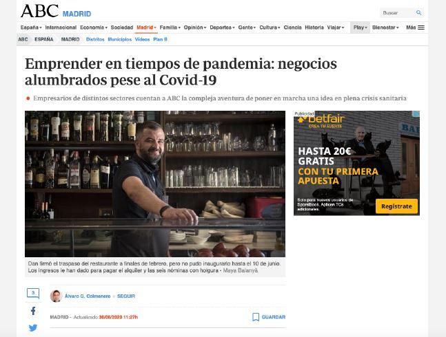 Emprendedores en tiempos de pandemia: ABC.