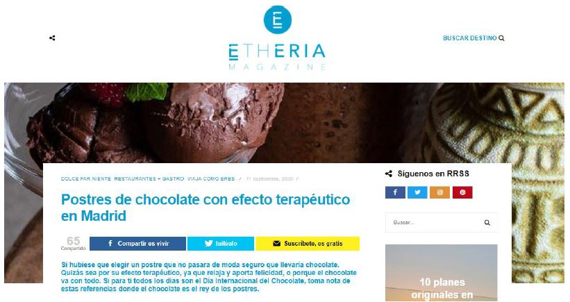 El Chocolate es Terapéutico | Etheria Magazine