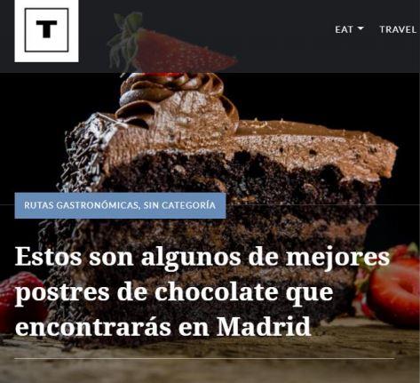 Tragourmet | Ruta de los mejores postres de chocolate de Madrid
