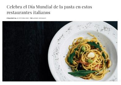 Status Empire: Celebra el día mundial de la pasta