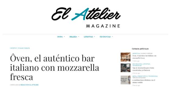 El Attelier: Ôven, auténtico bar italiano
