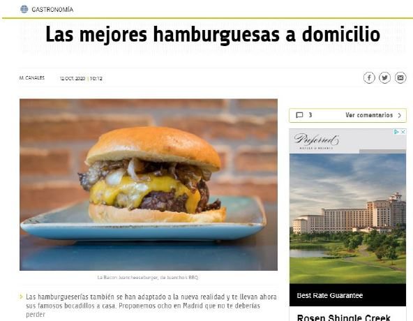 El Mundo Gastronomía – Las mejores hamburguesas en tus pedidos a domicilio