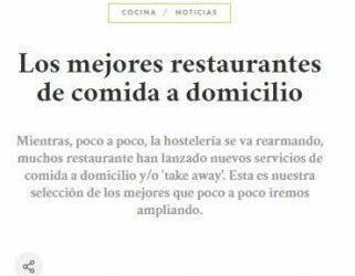 Mejores restaurantes de comida a domicilio