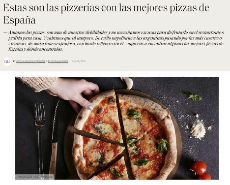 Pizzerías con las mejores pizzas de España