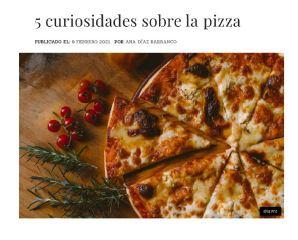Curiosidades de la pizza y Ranking de pizzerías