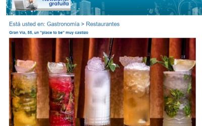 """Un place to be, restaurantes del Grupo Con Fuego """"Gran Vía 55"""""""